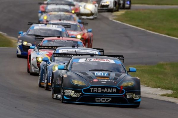 ALTON, VA - AUGUST 24:  The #007 Aston Martin of James Davison and Al Carter is shown in action during the IMSA Tudor Series GT race at Virginia International Raceway on August 24, 2014 in Alton, Virginia.  (Photo by Brian Cleary/Getty Images)