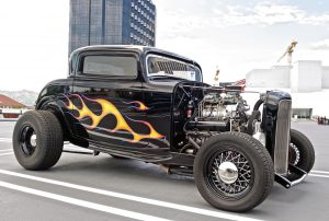 Classic 1932 Ford parked at a gathering commemorating the 85th anniversary of the 1932 Ford