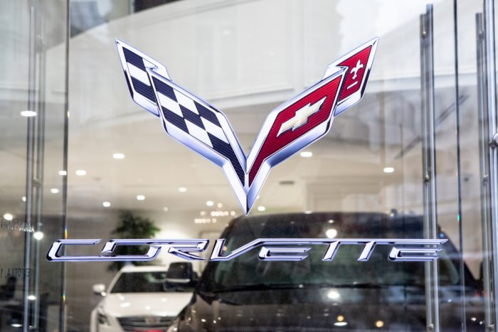 Car Shop Chevrolet Corvette. Luxury store Chevrolet Corvette And Cadillac in Moscow.